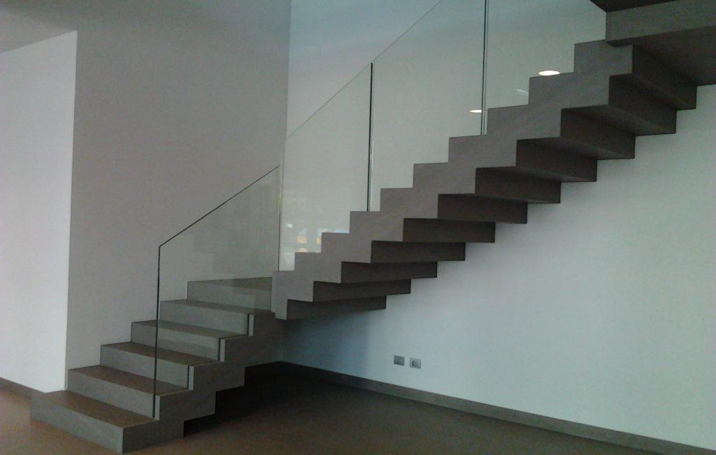 Granite Staircase glass railing
