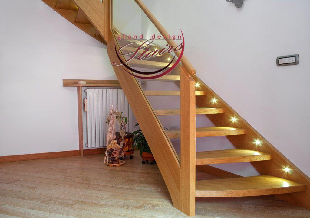 Samara Stairs Prospekt Kirova Oak Staircase Led Lights