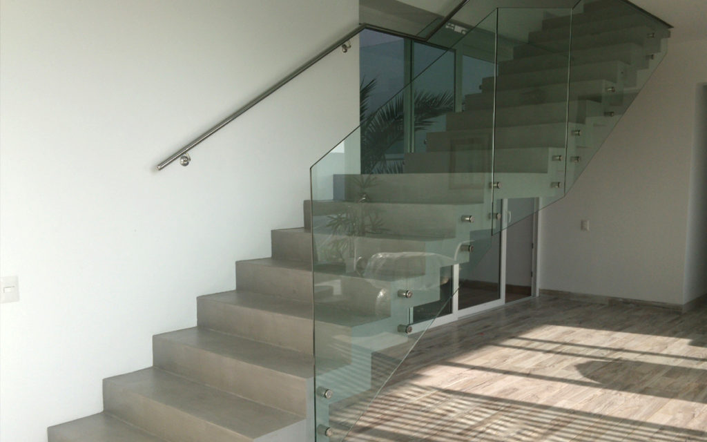 Grey Micro Cement Staircase White Micro Concrete ...