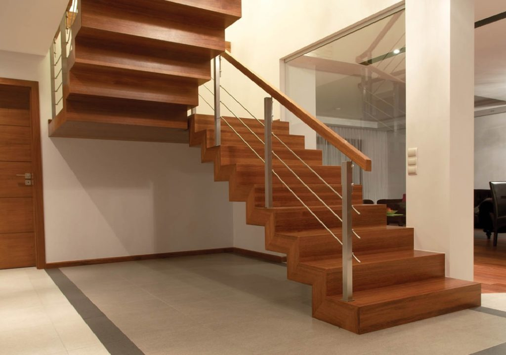Zig Zag Stairs and Closed Risers Floating Staircases